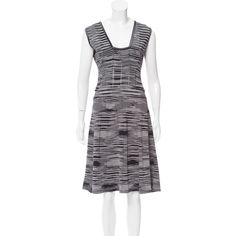 Pre-owned M Missoni Stripe Knee-Length Dress ($125) ❤ liked on Polyvore featuring dresses, black, m missoni, stripe dress, preowned dresses, m missoni dress and pre owned dresses