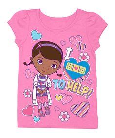 Look at this #zulilyfind! Hot Pink Doc McStuffins 'I Love to Help' Tee - Toddler #zulilyfinds
