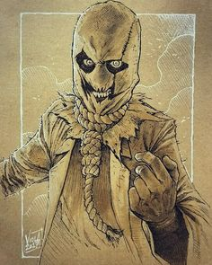 Not dead! Just busy(lazy?) But here it is a quick #scarecrow done on toned paper with #ink #pencil  #whiteink and #copicmarkers  Hope you haven't forgotten me! And I hope you like it! #dccomics #sketches #sketch #art #artist #artoninstagram #sketcheveryday #handdrawn #characterdesign #originalart #scribble #draw #drawing #drawings #illustration #illustrations #instadaily #photooftheday #doodle #moleskine #follow #iloveart #dailydrawing #digital #conceptart