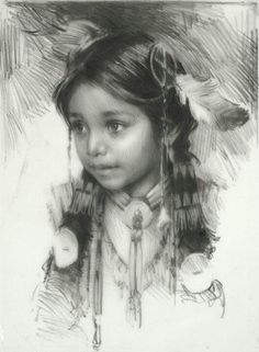 Pencil sketch by Harley Brown