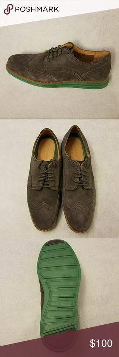 New Cole Haan Oxford Shoes Item: Cole Haan?Men's Gray Suede ?riginalgrand Wingtip Oxford Shoes?   Size: 10.5 New without box?  Item #: ?C23412 Shoes Condition: Brand New, Never been worn.? Color: Gray 100% Authentic?   Thanks for checking? Cole Haan Shoes Oxfords & Derbys