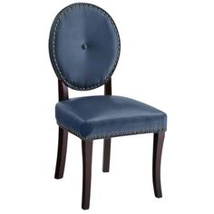 Pier 1 Imports Cadence Teal Dining Chair with Espresso Wood Teal Dining Chairs, Teal Chair, Leather Dining Room Chairs, Old Chairs, Dining Furniture, Furniture Ideas, Dining Area, Dining Sets, Dinning Table