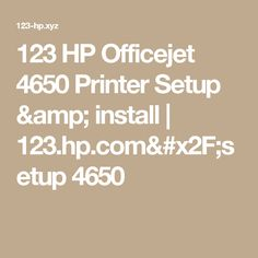 hp officejet 4650 driver free download