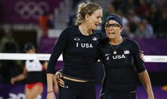 Kerri Walsh, Misty May Treanor; USA Women's Beach Volleyball--amazing