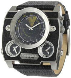 Diesel Men's DZ1243 Black Oversized SBA Analog-Digital Black Dial Watch: Watches: Amazon.com