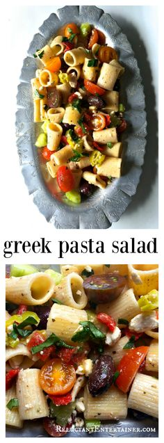 Greek Pasta Salad, make ahead of time and refrigerate up to 24 hours for delicious flavor. Excellent to bring to a potluck or a summer party!