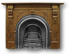 The Falkirk Fireplace Insert Victorian Fireplace Suppliers UK - Reproduction Fireplaces, Mantels in Cast Iron and Wood Cast Iron Fireplace Insert, Fireplace Inserts, Fireplace Mantels, Vintage Stoves, Victorian Fireplace, Antique Shops, Fleas, Auction