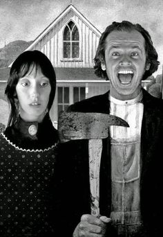 "thewindowofthesummerhouse: "" Grant Wood + the shining """