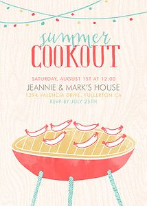 17 best cards summer party invitations images on pinterest