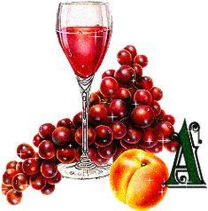 Alfabeto bebida de frutas.
