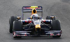 Sebastian Vettel in his freakishly fast Red Bull RB8