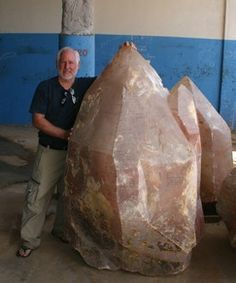 Huge rose quartz crystal!
