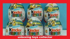 Minions 2015 Fun Toys Kinder Surprise Eggs Review Learn Characters Name ...