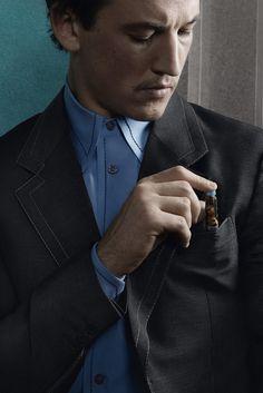 Miles Teller in the Prada men's spring 2015 ad campaign. [Courtesy Photo]