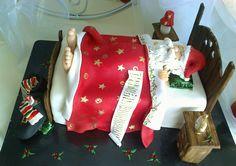 Santa Clauss sleeping