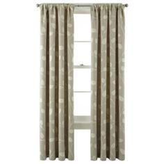 MarthaWindow™ Hampton Leaf Rod-Pocket/Back-Tab Curtain Panel  found at @JCPenney