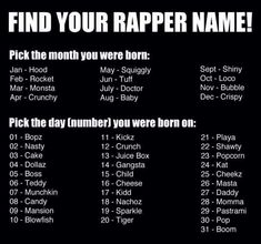 Find Your Rapper Name quotes find name rapper humor jokes lol New Names, Cool Names, Unique Names, Funny Girl Names, Funny Name Generator, What A Beautiful Name, Find Name, Fantasy Names, Name Games
