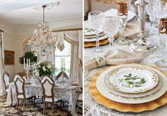 Mix Matching China and Glass for an Elegant Christmas Table ~ Mary Walds Place -  Chattanooga Interior