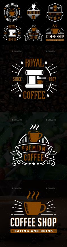 Coffee Badge & Logo - Badges & Stickers Web Elements
