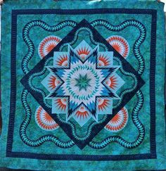 Glacier Star, Quiltworx.com, Made by Kathy Britton, Taught by CI Tammy Doane and Judy Niemeyer
