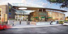 centros comerciales - Buscar con Google Shopping Mall Architecture, Retail Architecture, Commercial Architecture, Modern Architecture, Facade Design, Roof Design, Bridge Design, Exterior Design, Mall Design