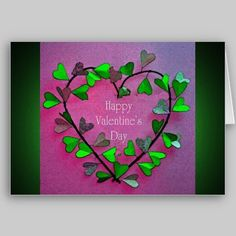 Ivy Heart Valentine's Day Card available at www.zazzle.com/stevebrownleeart