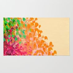 """Creation in Color - Autumn Infusion"" by Ebi Emporium on @society6 Art Area Rug, Modern Home Decor Colorful Fine Art Abstract Ombre Fall Painting Ocean Waves Splash Orange Red Green #autumn #autumndecor #colorful #splash #abstract #fineart #art #painting #ombre #falldecor #fall #arearug #rug #artrug #decorative #dorm #homedecor #EbiEmporium #Society6"