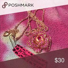 Gorgeous Purple Pink Flower Betsy Johnson Necklace Gorgeous Purple Pink Flower Betsy Johnson Necklace NWT Betsey Johnson Jewelry Necklaces