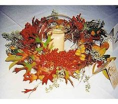 Flowers, Red, Orange, Gold, Fall, Cattails