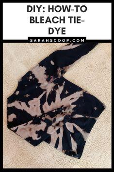 Diy Tie Dye Bleach, Bleach Dye Shirts, Diy Tie Dye Shirts, Diy Shirt, Bleach Pen, Diy Tank, Reverse Tye Dye, Diy Tie Dye Techniques, Bleaching Clothes