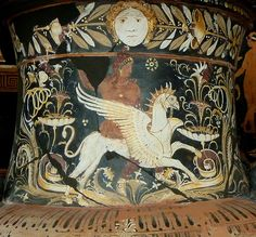Arimaspus  griffin (Neck of krater) Berlin, Museumsinsel, Altes Museum,