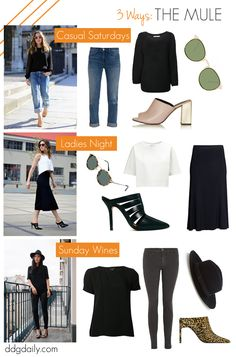 Mules: How to work them into your wardrobe 3-ways!