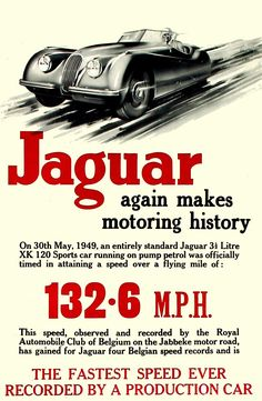 Vintage Advertising Posters | Jaguar Cars