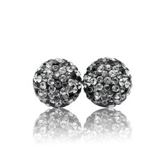 10mm Fade Sparkle Ball Stud Earrings by Hillberg & Berk