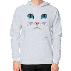 Cat Face Hoodie (on man) Shirt
