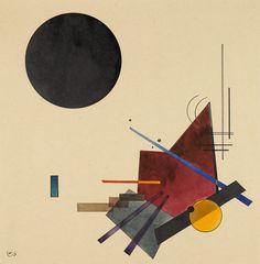 Vasily Kandinsky- Schwarze Beziehung (Black Relationship).