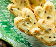 Passionfruit palmiers recipe - By FOOD TO LOVE, The sensation of these crisp pastries shattering into flaky layers in your mouth is always a treat.