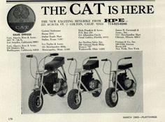 CAT minibikes