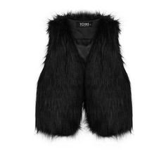 Yoins Yoins Open Front Artificial Fur Gilet (20 CAD) ❤ liked on Polyvore featuring outerwear, vests, black, fur waistcoat, faux fur gilet, sleeveless vest, fur sleeveless vest und faux fur waistcoat