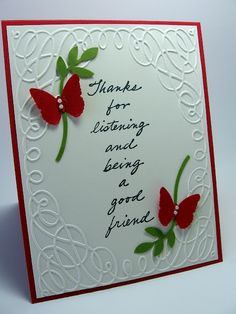 stamping up north: Embossed Thankyou Card