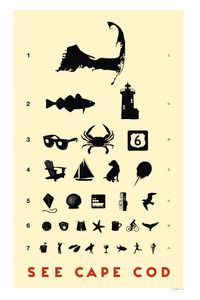 "Cape Cod ""Eye Chart"" from the Artful Hand Gallery, Chatham, MA"