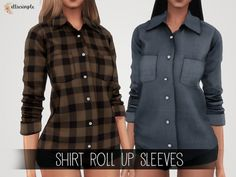 The Sims 4 Elliesimple - Shirt Roll Up Sleeves