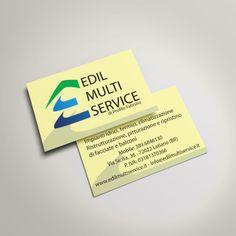 Progettazione, realizzazione e stampa del biglietto da visita Edil Multi Service azienda multi servizi nel campo edile.