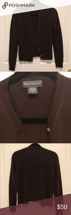 Banana Republic Brown Cashmere Cardigan This one has a little more \