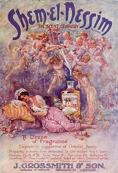 Shem-el-Nessim, The Scent of Araby #vintage #perfume #ad