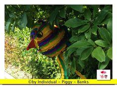Pinata - Piñata - Kindergeburtstag -  Pullpinata - Vogel - bunter Papagei