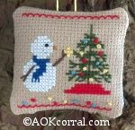 Cross Stitch Christmas Snowman - Christmas Snowman Patterns for Cross Stitch