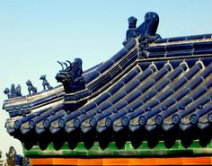 Temple of Heaven, Beijing, China️♓️Chinese Roof Tiles ️️More Pins Like This At FOSTERGINGER @ Pinterest