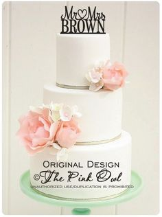 Personalized Wedding Cake Topper Monogram Mr by ThePinkOwlGifts, $32.00 @Deanna Marie love this too