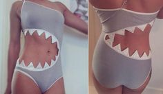 Sharkini – Shark Swimsuit -costume http://www.differentdesign.it/2013/07/25/sharkini-shark-swimsuit/